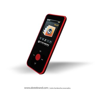 Reproductor Stromberg Carlson Mp4 / AMV Bluetooth MP464 BT Rojo