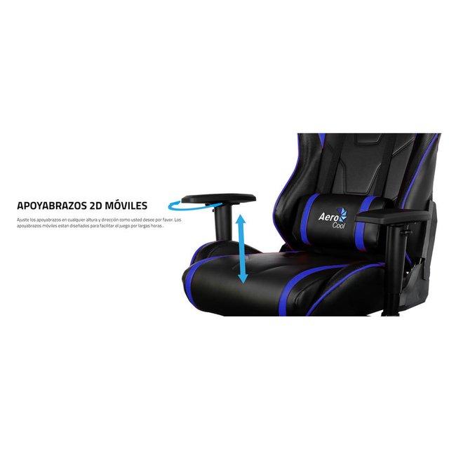 Gaming Gamer InicioAccesorios Negro Profesional Aero Azul Silla Cool Ac220 8nkw0OP