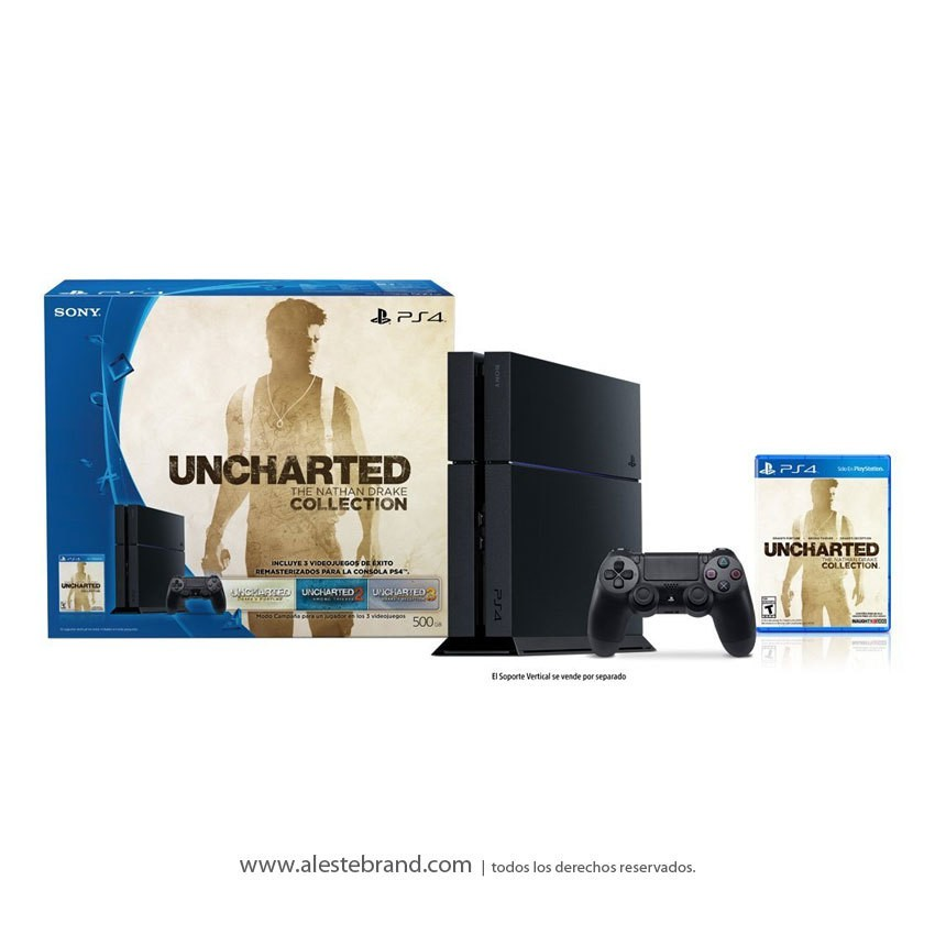 Sony PlayStation 4 Slim 500GB + Uncharted The Nathan Drake Collection
