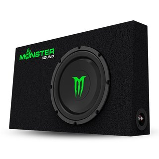 Subwoofer Monster Sound Cajón ultra chato 1000W M-124S