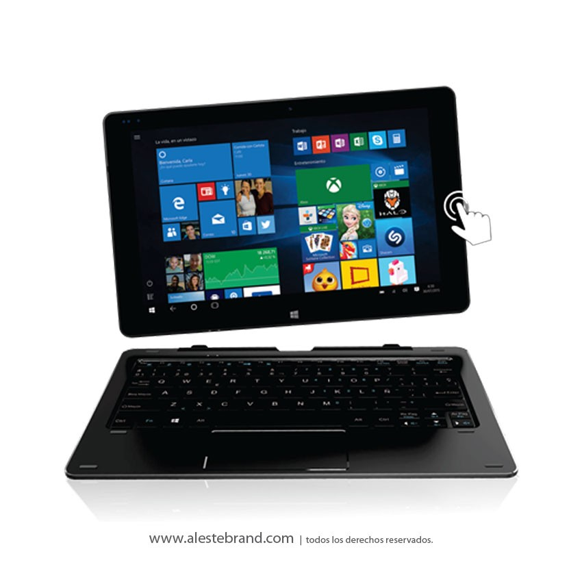 Tablet Y Notebook Pcbox 2 En 1 Convertible Marc PCB-TW102