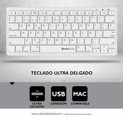 Teclado Eurocase Ultra Slim Umber Eukb-340 Usb Mac Pc en internet