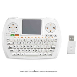 Teclado WIRELESS PCBOX PCB-PK730 2.4Ghz blanco C/TOUCH PAD / QWERTY