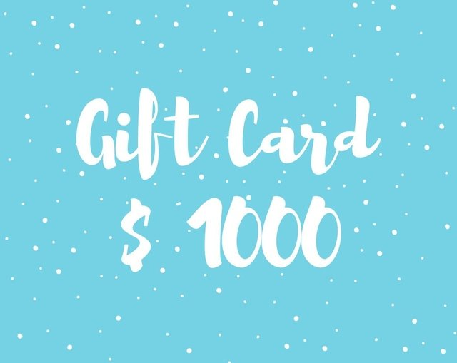 Gift Card $1000