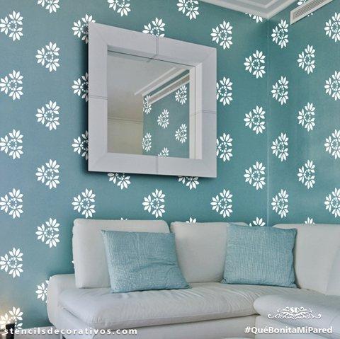Plantillas para pintar paredes ikea finest beautiful plantillas flores para pintar paredes - Plantillas decorativas para pintar paredes ...