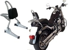 SISSY BAR DESTACÁVEL KING HD FAT BOY COM BAGAGEIRO 50 CM- INOX na internet