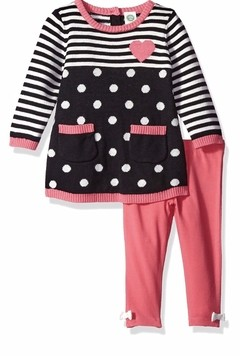 Conjunto Sweater Little Me Pink- LM2210 - Tamanho 12 meses
