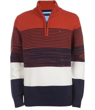 Sweater Tommy Hilfiger Colorblock - TH932 - Tamanho 5 anos
