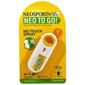Neosporin, Spray antisséptico/analgésico, 0,26 fl oz (7,7 ml)