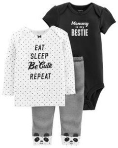 Conjunto Carters 3 pecas 'Mommy is my Bestie