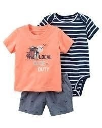 Conjunto Carter's Summer Local Cutie on Duty  - 121H173A - Tamanho 24 meses