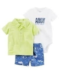 Conjunto Carters  Summer Ahoy Little Mate - 121H180 - Tamanho 24 meses
