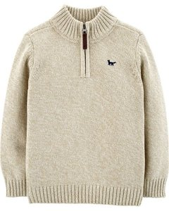 Sweater Pullover Carter's Creme - 243H881 - Tamanho 4 anos