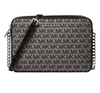 Bolsa Michael Kors Jet Set Large West Crossbody - Preto / Silver