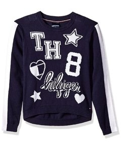 Sweater Tommy Hilfiger Azul & Branco - TH921 - Tamanho 2 -3 anos