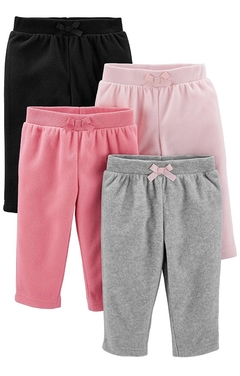Kit 4 calças Fleece Simple of Joys By Carters - SJ987 - Tamanho 12 meses