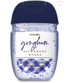 Álcool Gel Antibactericida Bath & Body Works -Gingham/ com oleos essenciais