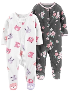 Kit 2 Macacões Fleece Simple Joys By Carters - JA1999 - Tamanho RN