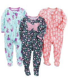 Kit 3 Macacoes Cotton Simple Joys By Carters - Diversos Girls  - SJ431A - Tamanho 18 meses