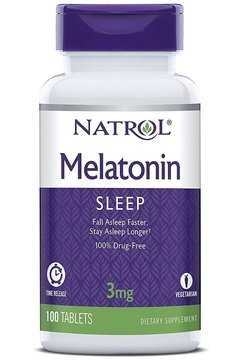 Melatonina 3 mg - 100 capsulas - Natrol - TIme Release