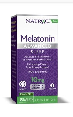 Melatonina 10 mg - Time Release  - 100 capsulas - Natrol