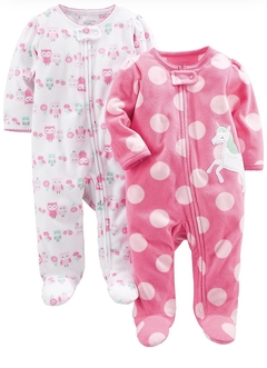 Kit 2 Macacões Fleece Simple Joys By Carters - JA823 - Tamanho 0 - 3 meses