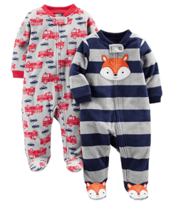 Kit 2 Macacoes Fleece Simple Joys By Carters - Diversos Boys - SJ354A - Tamanho 6 - 9 meses
