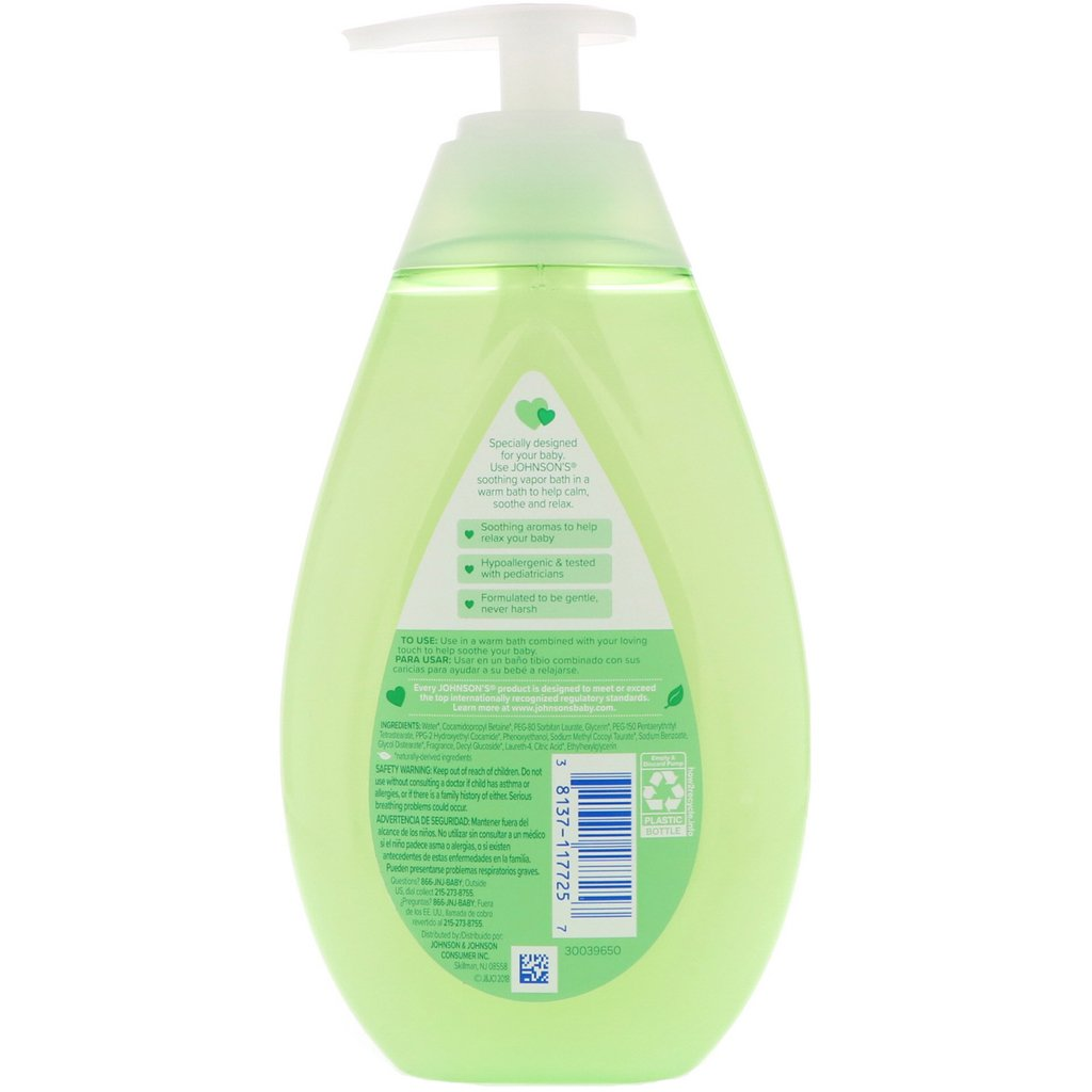 Baby Bath Johnson Soothing Vapor