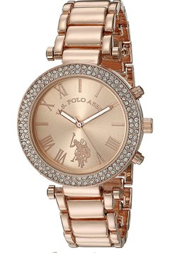 Relogio U.S Polo Assign Rose strass
