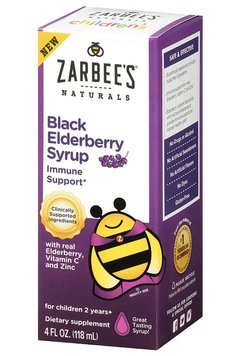 Xarope Black Elderberry Zarbees Infantil