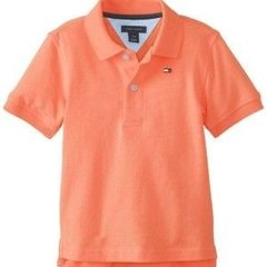 Camiseta Polo Tommy Hilfiger Coral - TH2973 - Tamanho 4 anos