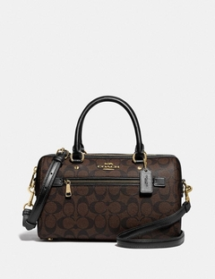 Bolsa Coach Rowan Satchel In Signature Canvas -  Marrom / Preto
