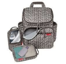 Bolsa Maternidade Forma BackPack Mochila Grey Feather Skip Hop
