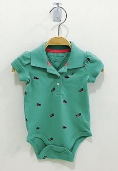 Body Tommy Hilfiger Verde Details  - TH9823 - Tamanho 3 -6 meses