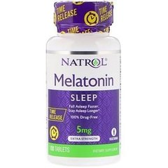 Melatonina 5 mg - 100 capsulas - Natrol - TIme Release