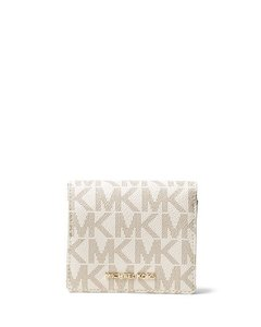 Carteira Michael Kors White - Jet Set Travel Logo Card Holder - MK927932