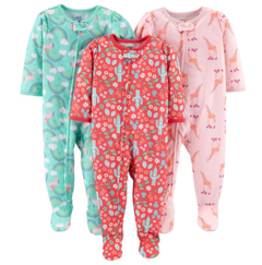 Kit 3 Macacoes Cotton Simple Joys By Carters - Diversos Girls - SJ964 - Tamanho 4 anos
