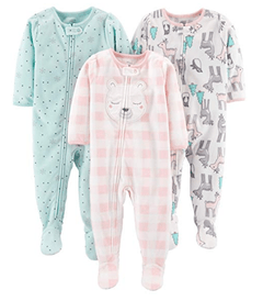 Kit 3 Macacoes Fleece Simple Joys By Carters - Diversos Girls- SJ482A - Tamanho 12 meses