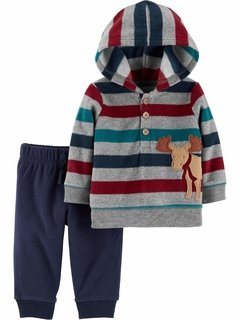 Conjunto Child of mine By Carters Fleece - CH7263B - Tamanho 0 - 3 meses