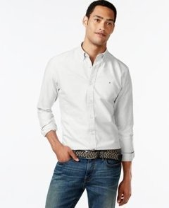 Camisa Social Tommy Hilfiger Jeans Claro Classic Fit  - TH720 - Tamanho GG