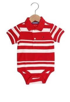 Body Polo Tommy Hilfiger Red - TH012 - Tamanho 24 meses