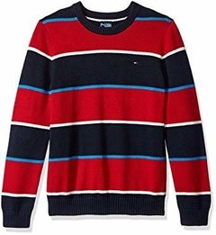 Sweater Tommy Hilfiger Listras Red - TH612 - Tamanho 6 -7 anos