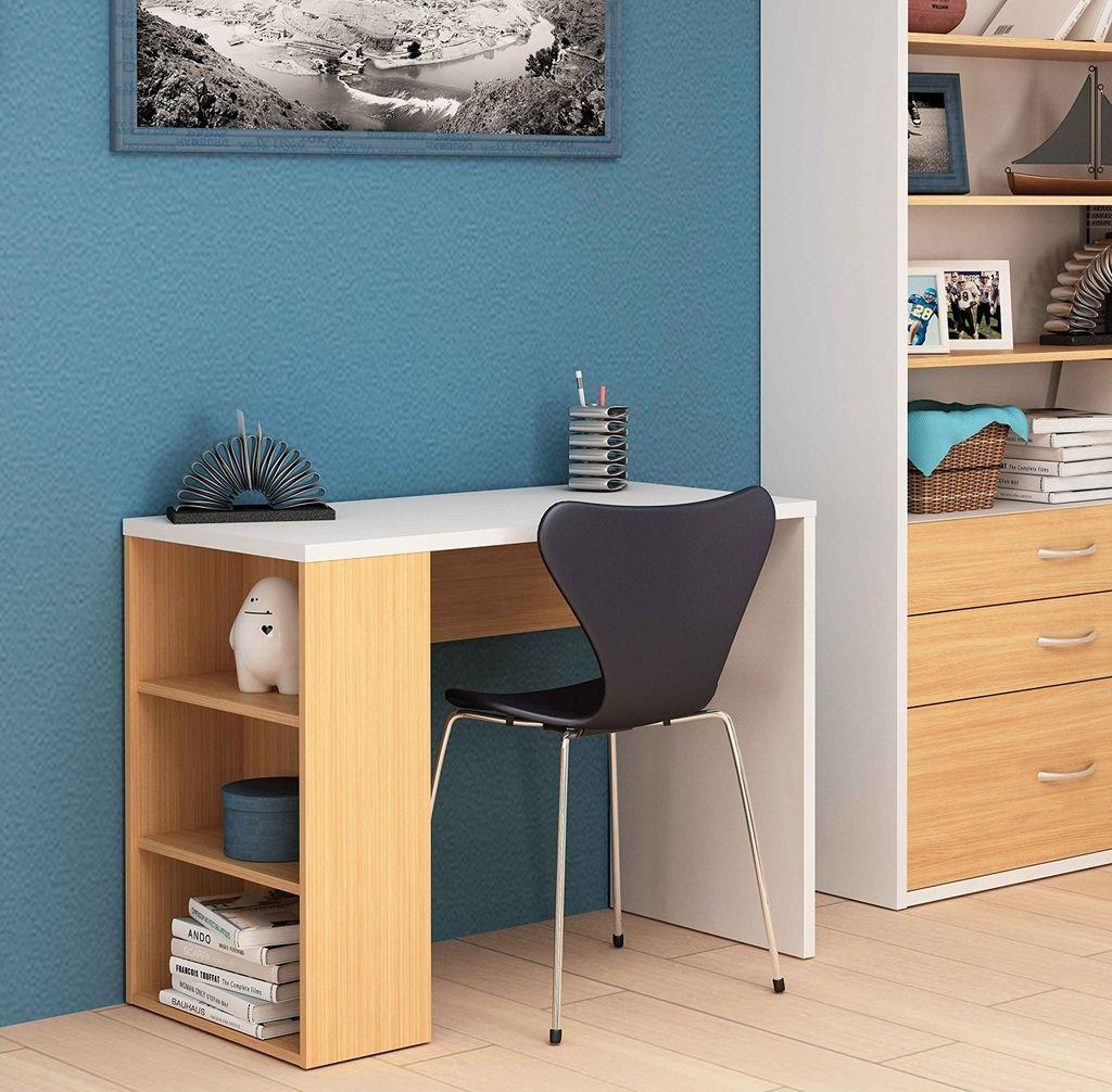 Escritorio estanteria beautiful fmd lex mesa escritorio - Escritorios de pared ...