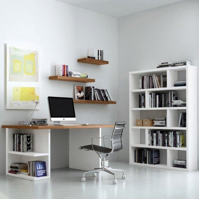 combo set oficina escritorio biblioteca estantes
