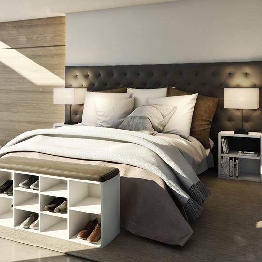 Combo dormitorio 2 mesas de luz zapatero pie de cama - Pie de cama ...