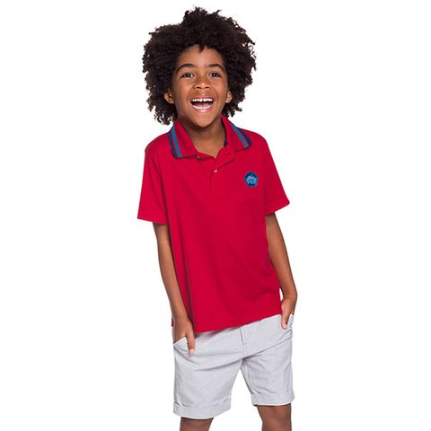 Camisa Polo Infantil Masculina Speed King Brandili