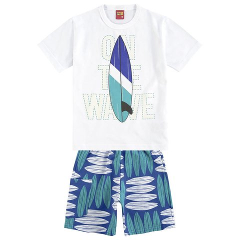 Conjunto Infantil Masculino Branco The Wave Kyly