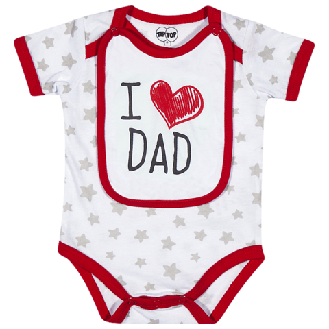 Body Infantil Unissex I Love Dad Tip Top