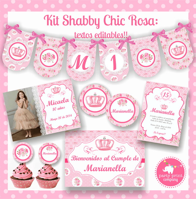 KIT SHABBY CHIC ROSA