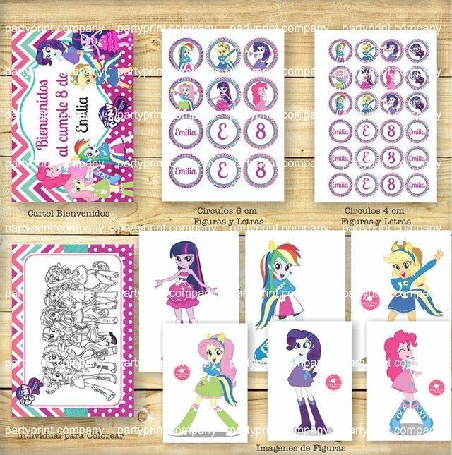 KIT EQUESTRIA GIRLS - Pajaritorojo Happy Party